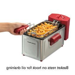 2 Liter Deep Fryer Basket Electric Cooker Kitchen Countertop