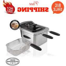 Home Electric 4L Deep Fryer Kitchen Countertop Stainless Ste