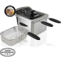 Deep Fryer 1 Gal Stainless Steel Cooker Basket View Window W