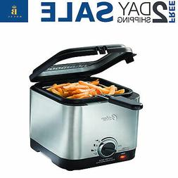 Home Electric Deep Fryer Countertop Compact French Fry Maker