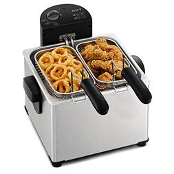 Home Kitchen Small Appliances 4 Liter Dual Basket Deep Fryer