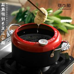 Japanese tempura frying pan two ear small visual temperature
