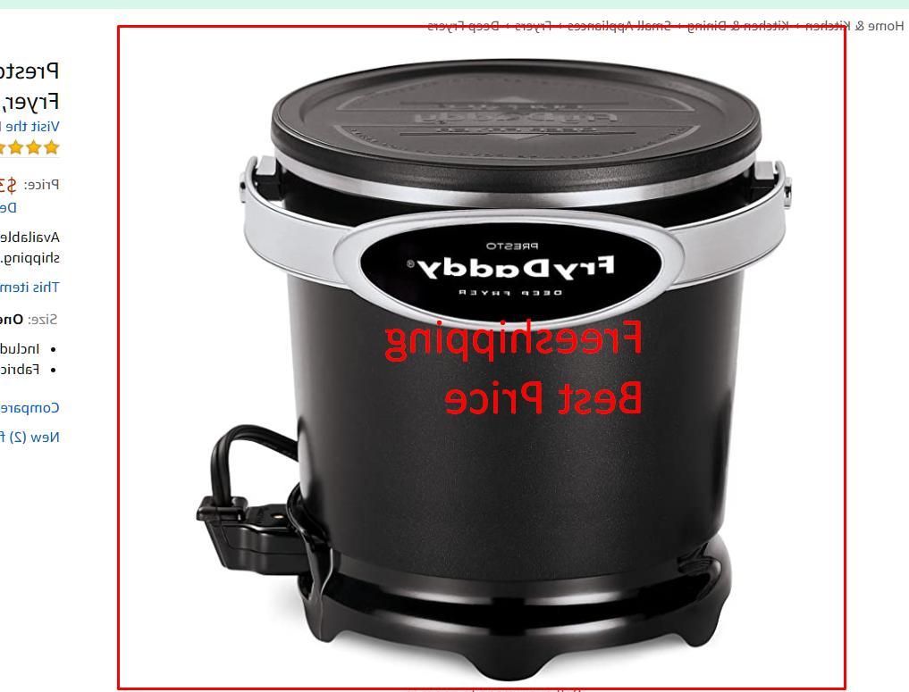 05420 frydaddy electric deep fryer black new