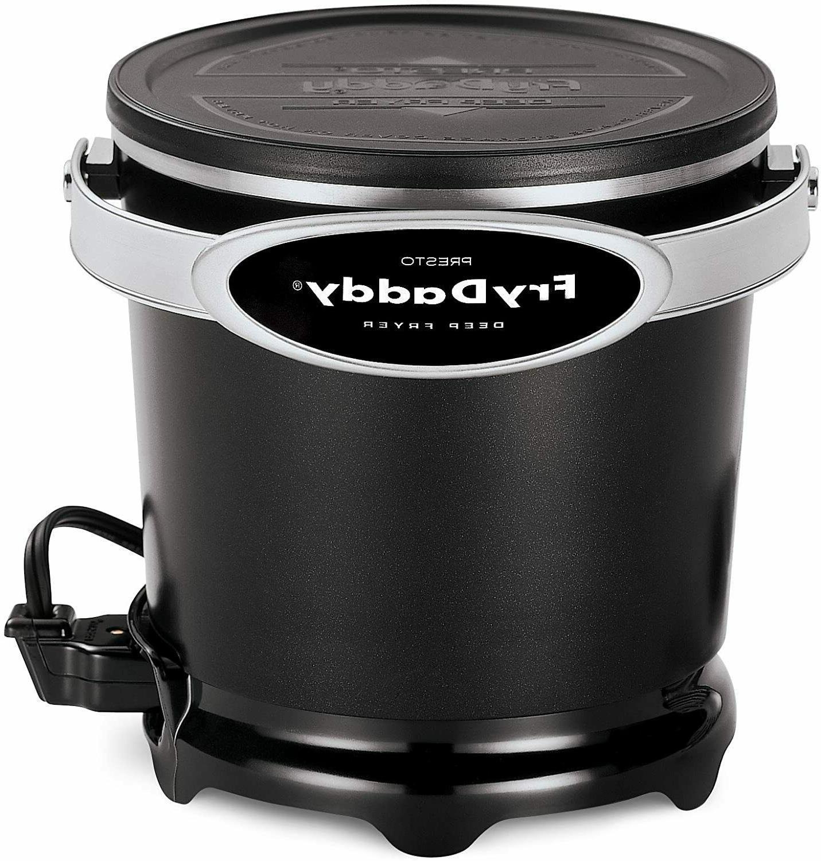05420 frydaddy electric deep fryer black