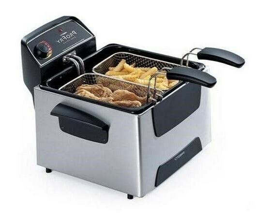 Presto 05466 Stainless Dual Basket Element Fryer