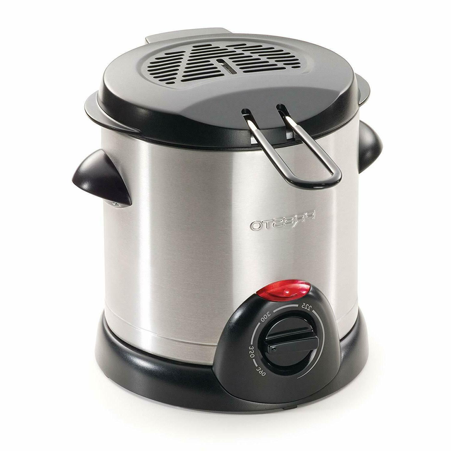 05470 stainless steel electric deep fryer silver