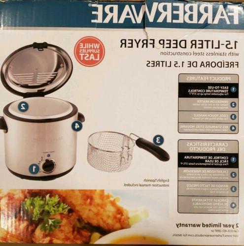 Farberware 1.5 Stainless Fryer Model