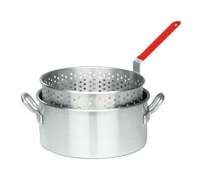 10 quart aluminum fry pot