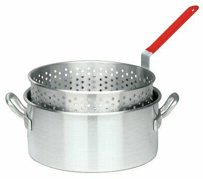 Bayou Classic 10 Quart Aluminum Fry Pot and Basket with Cool