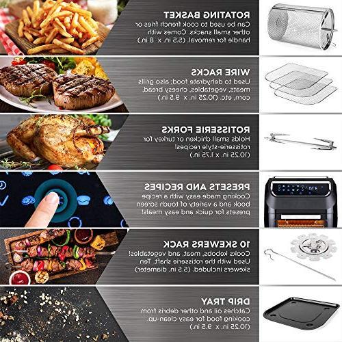 Best 1700W XL Fryer Oven, Rotisserie, Kitchen Cooking 8