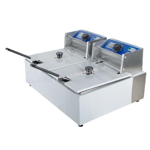 110V Dual Fryer Scoop 5KW