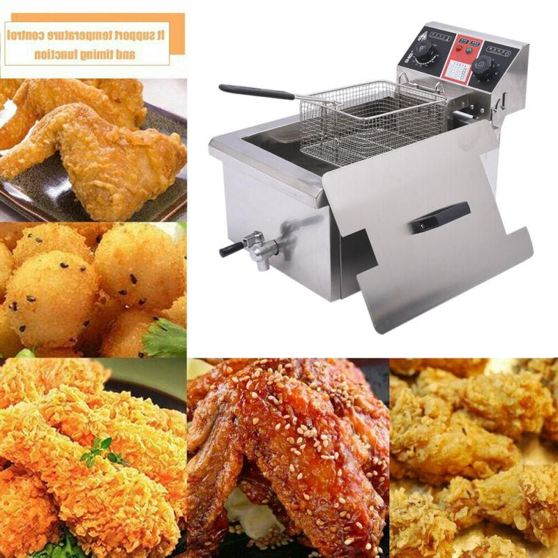14L 2500W  Electric Deep Fryer Commercial Restaurant Fry Coo