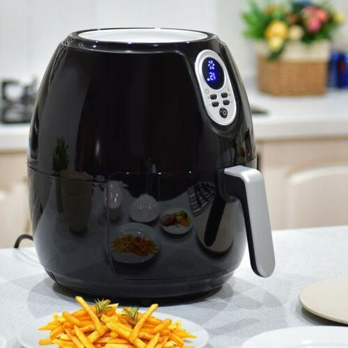 1500W 4.8 Quart Kitchen Electric Digital Air Fryer with LCD