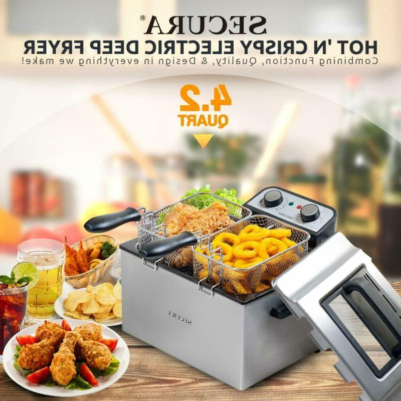 Steel Fryer with Triple and...
