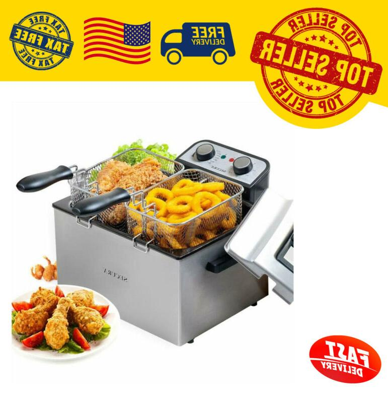 1800w large stainless steel electric deep fryer