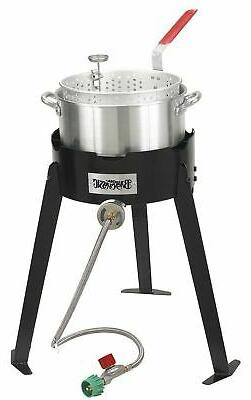 Bayou Classic 2212 Fish Cooker Set, Black and Silver