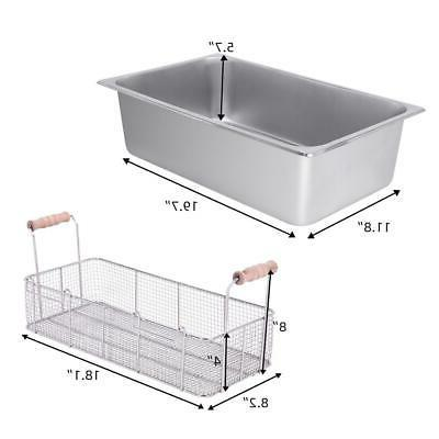22L Electric Fryer Large Tank Commercial Stainless Steel