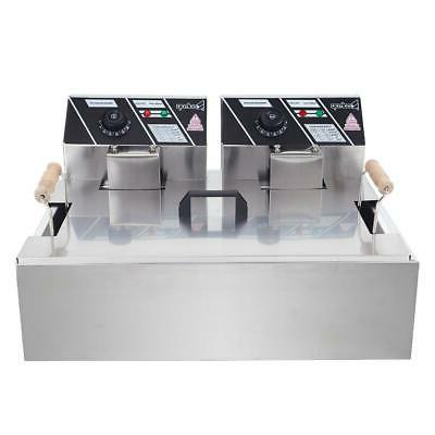 22L Electric Deep Fryer Large Tank Stainless