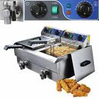 23.4L Commercial Deep Fryer w/ Timer Drain Fast Food French