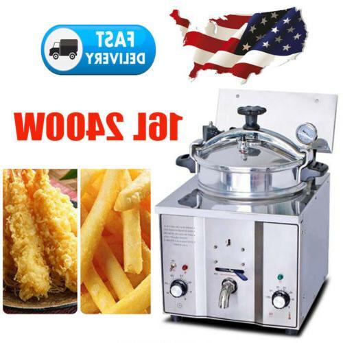2400W 16L Countertop Deep Fryer 5 Chicken Cooking