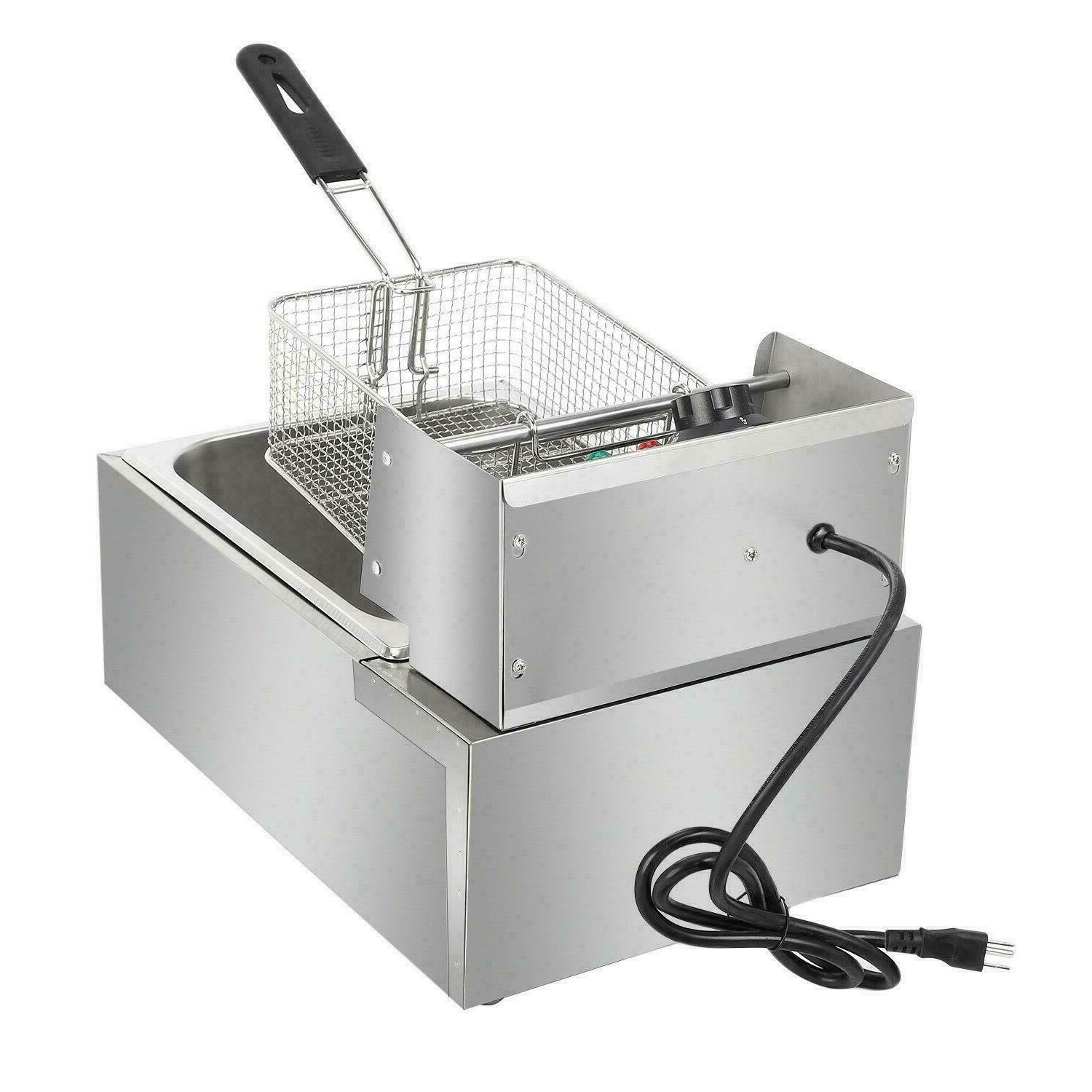 2500W 6.3QT/6L Stainless Electric Deep Fryer Commercial