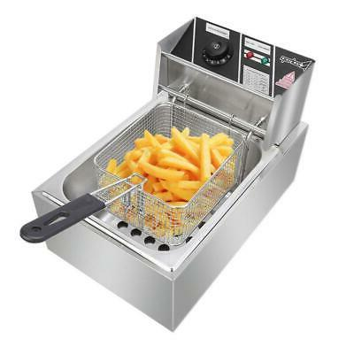 2500W Stainless Electric Deep Fryer Commercial Restaurant