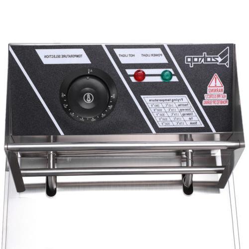 2500W Electric Deep Fryer 6 Liter Restaurant Basket