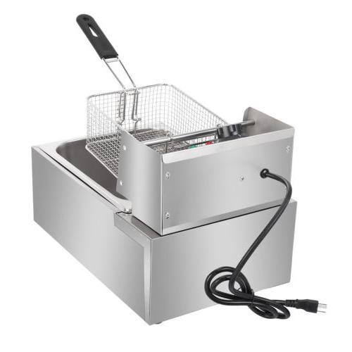 2500W Electric Deep 6 Liter Commercial Restaurant Basket