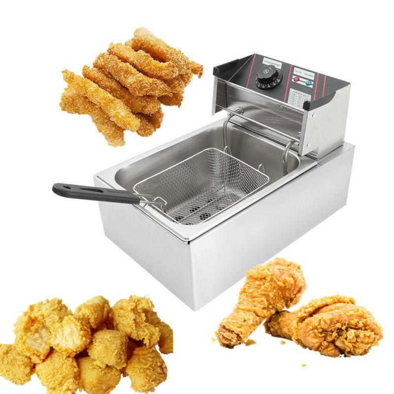 2500w electric deep fryer 6 liter commercial