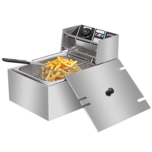 2500W Commercial Tabletop Restaurant Basket 6.3 QT