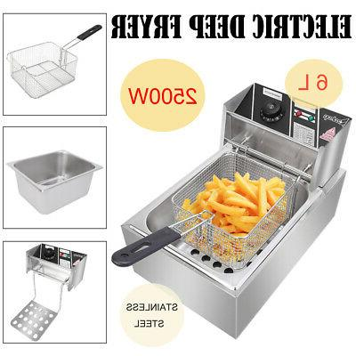 2500W Stainless Electric Deep Fryer Commercial