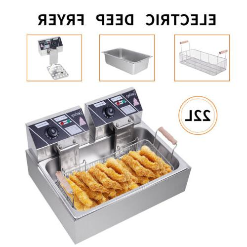 2500W Electric Stainless Tabletop Basket Commercial