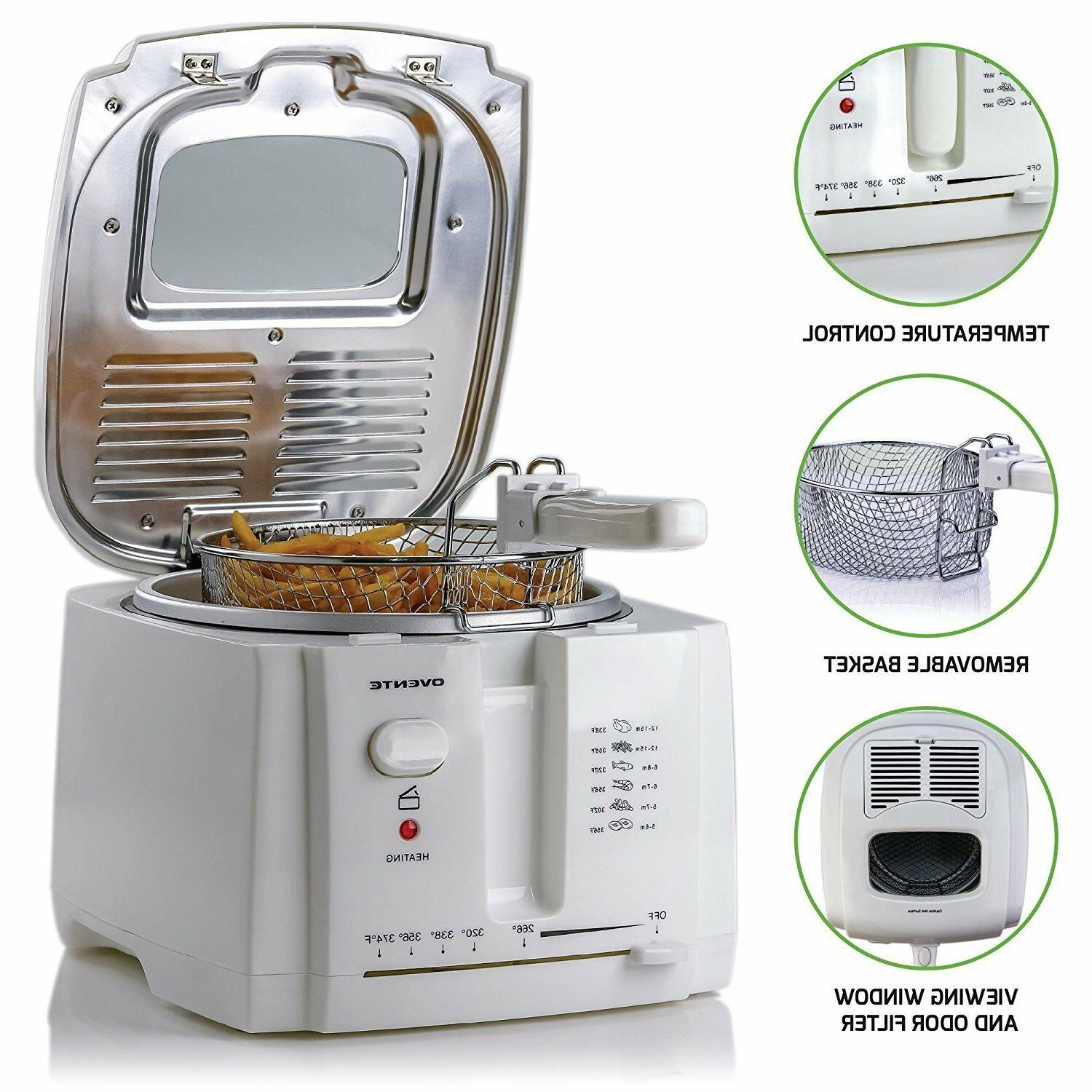 Ovente 2L Deep Fryer Stainless Fry Basket