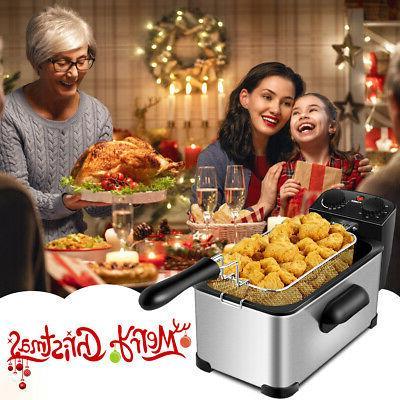3.2 Fryer 1700W Stainless Steel w/Frying Home Kitchen