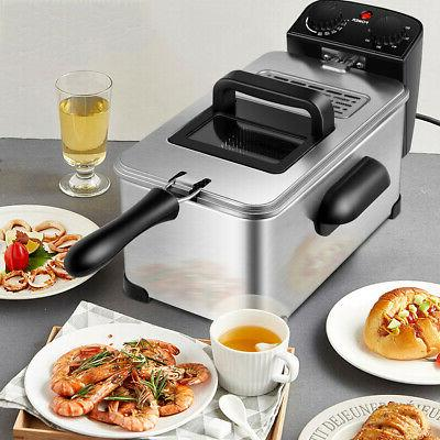 3.2 Quart Fryer 1700W Stainless w/Frying Home Kitchen