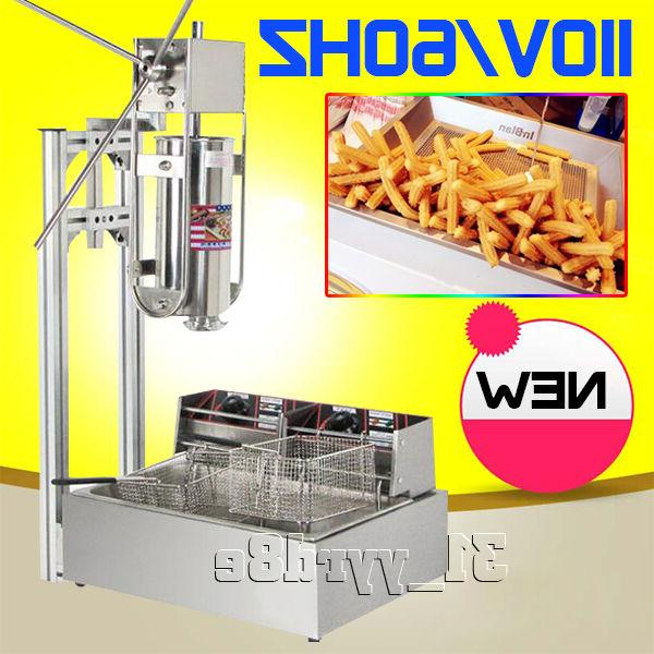 3 in 1 5L Manual Churro Machine+Working Stand+12L Deep Fryer