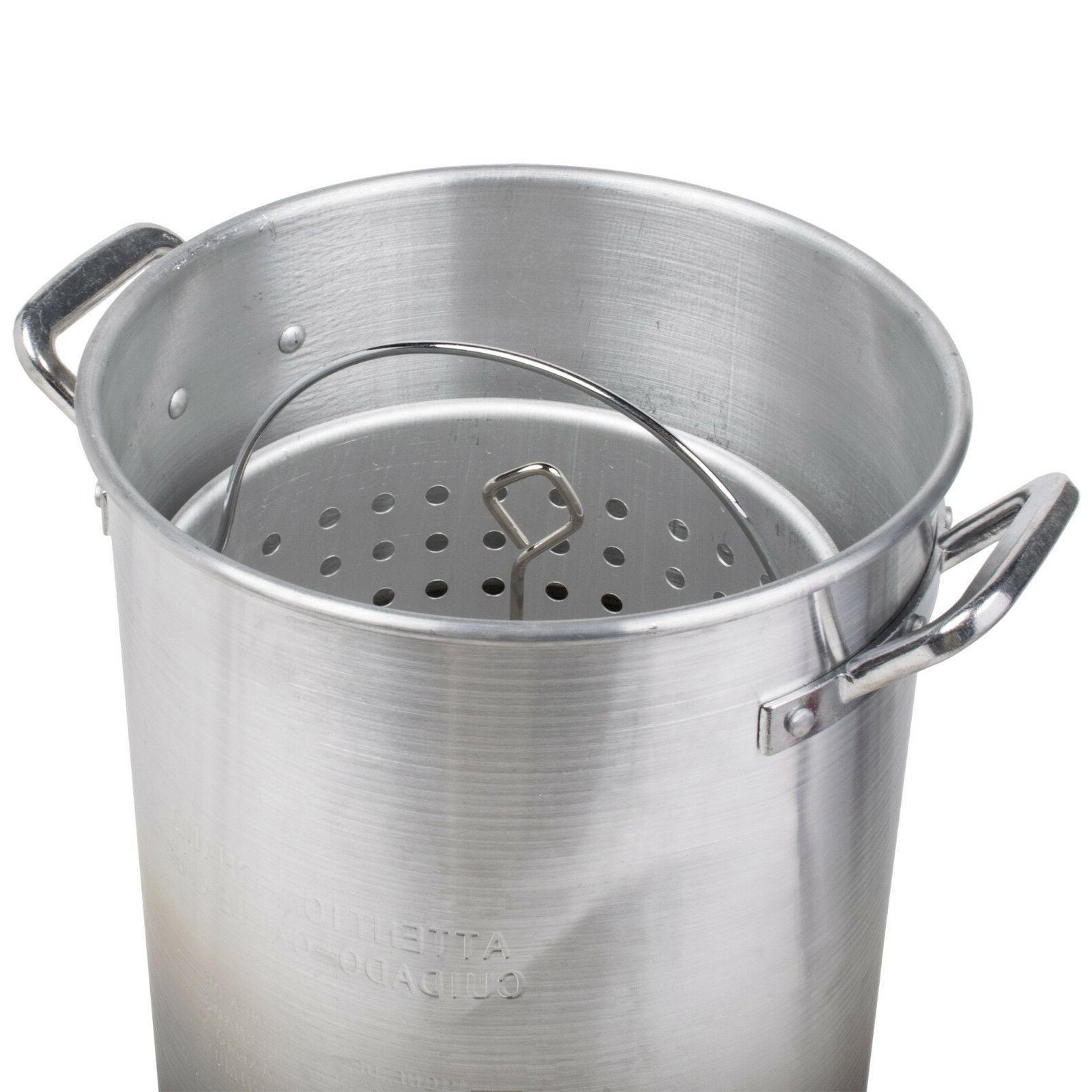 30 Qt Turkey Deep Fryer Kit Steamer Stock Pot Propane LP