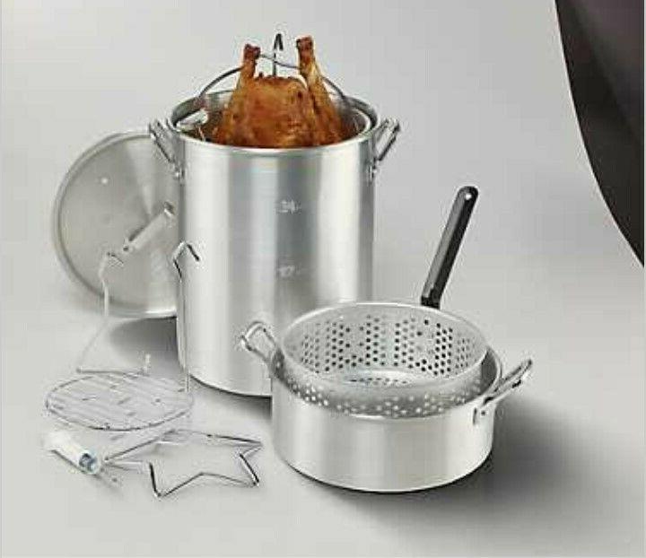 30 qt outdoor aluminum turkey fryer fish