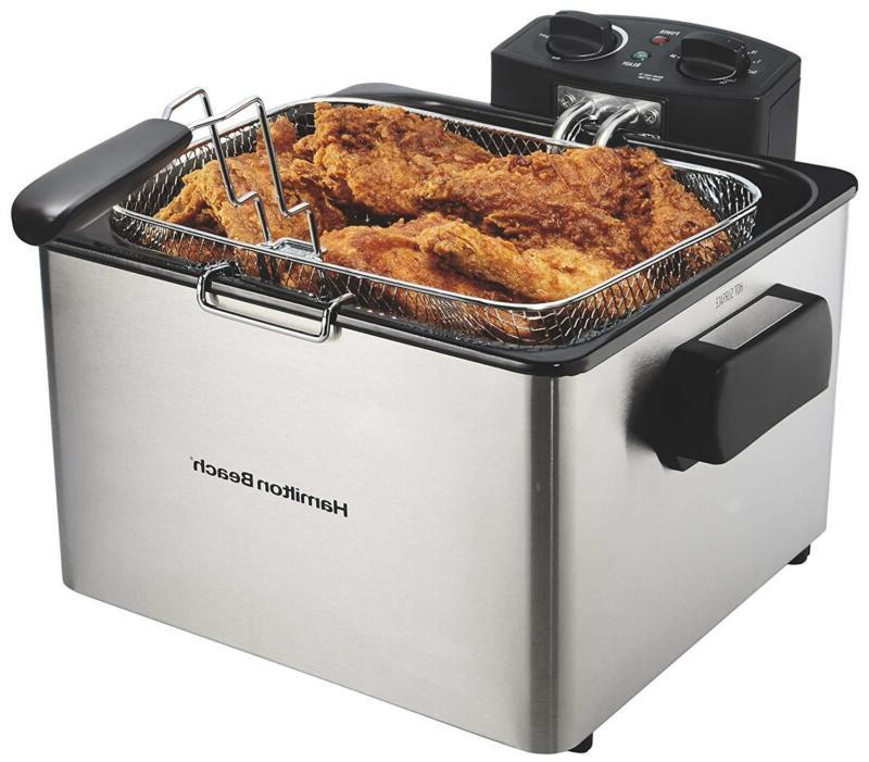 35035 deep fryer with basket 4 5