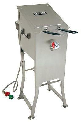 Bayou Classic 4 Gallon Stainless Steel Propane Deep Fryer 70