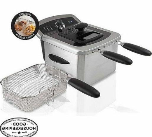 4l deep fryer stainless kitchen baskets cook