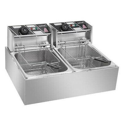 5000W Electric Fryer Commercial Restaurant Stainless Steel