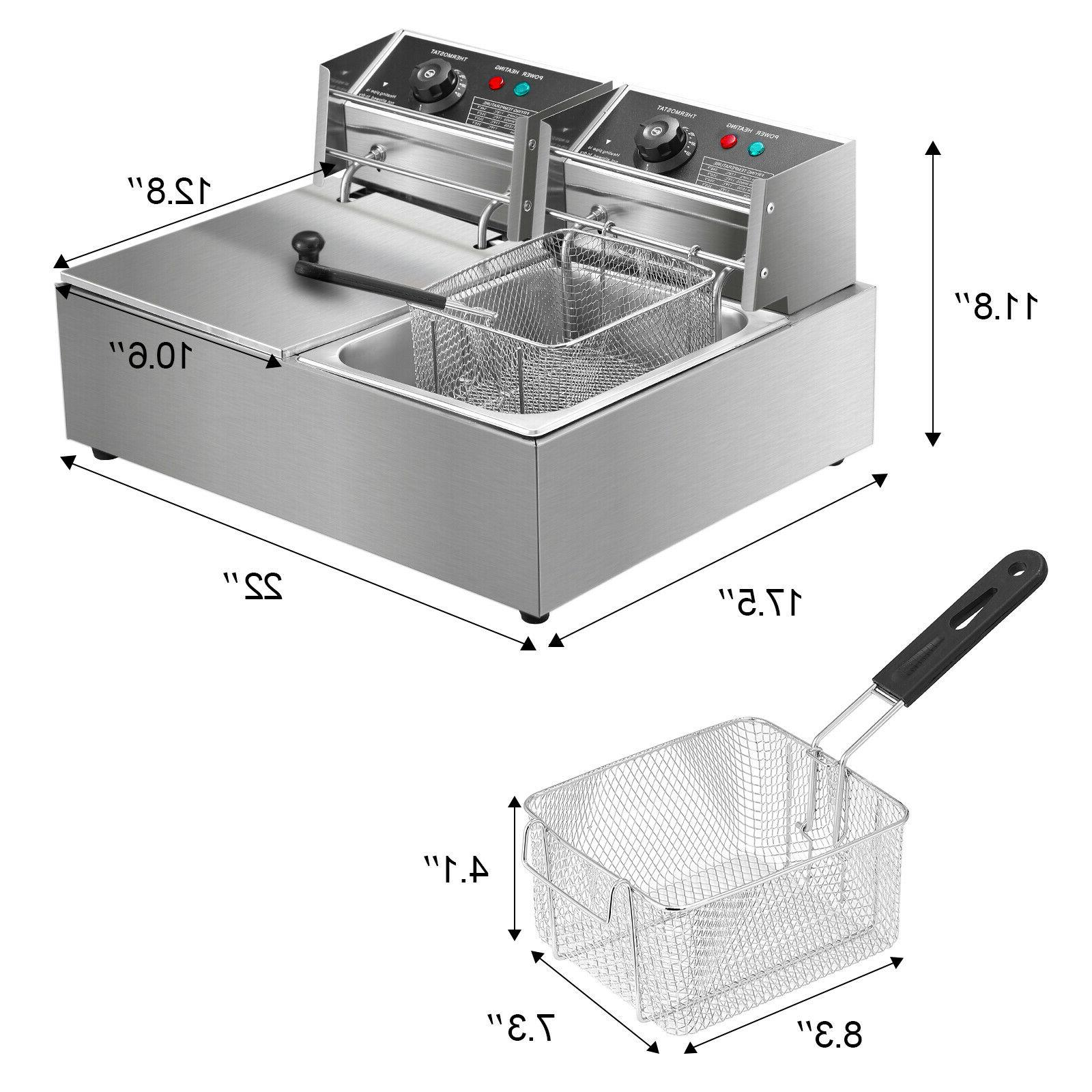 5000W Electric Deep Stainless Steel Dual Restaurant Home