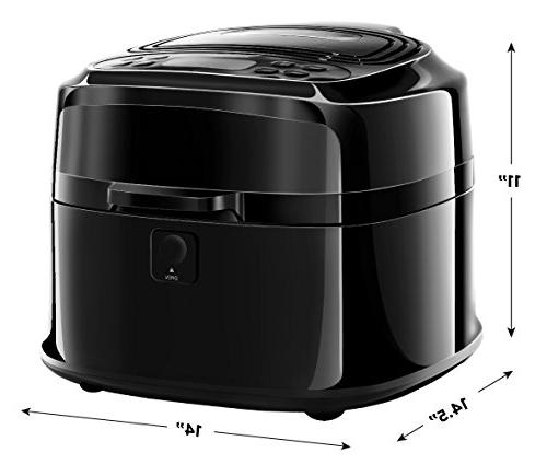 Chefman Liter/6.8 Quart Perfect Fried Food Oven Air Roaster w/Cool-Touch Free, Frying Pan