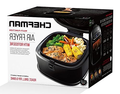 Chefman 6.5 Liter/6.8 Fryer for Perfect Oven Oil Air Roaster Free, Pan