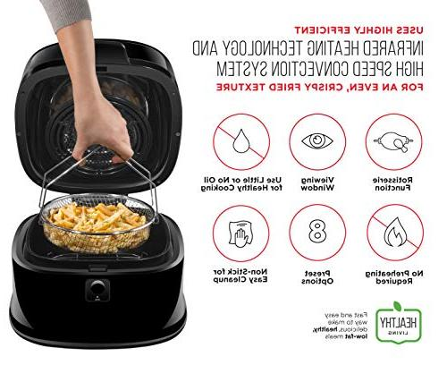 Chefman 6.5 Liter/6.8 Fryer Function for The Perfect Fried Oven Free, Rack Frying Pan Watt