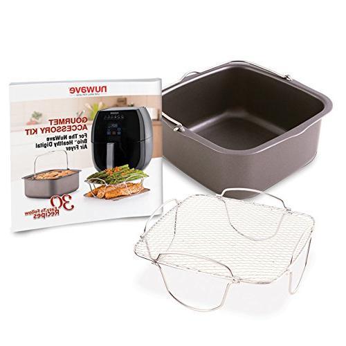 Nuwave Air Fryer Kit, rack, pan, recipes