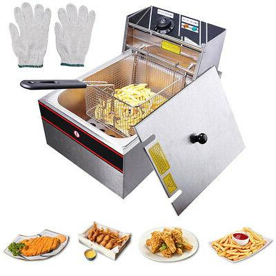 6L Electric Deep Fryer Commercial Countertop Basket French F
