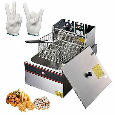 6l electric countertop deep fryer commercial basket