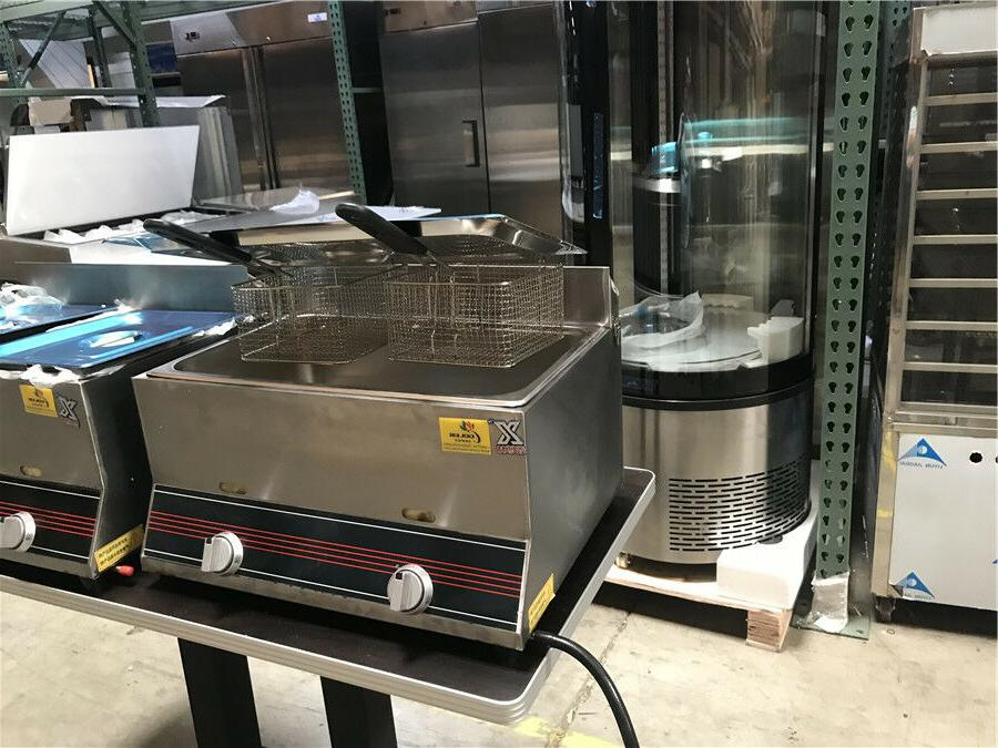 7 double Deep Fryer GAS AND PROPANE